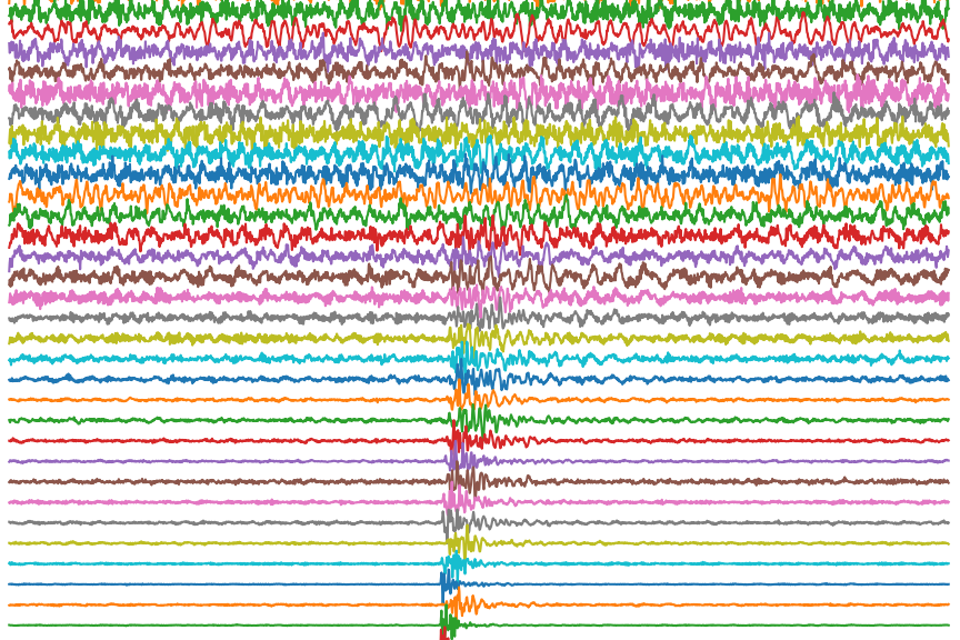 Seismic activity from a small landslide